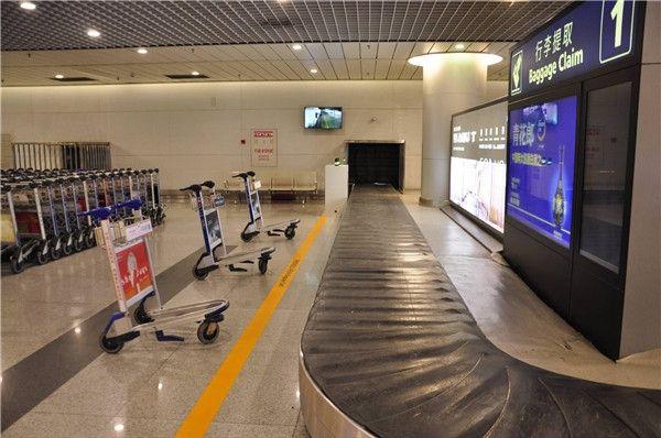 成都机场国际厅旅客进港行李提取可视化系统启用