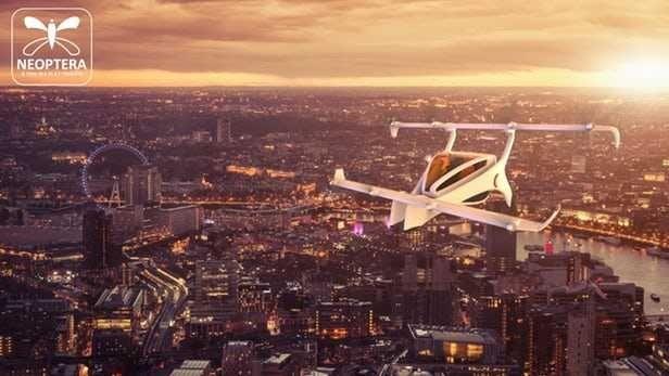Neoptera电动垂直起降飞机比例模型下月将试飞