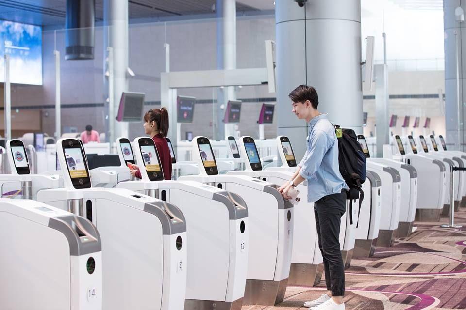 新加坡机场生物识别技术