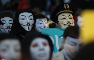 大韩航空员工集会抗议