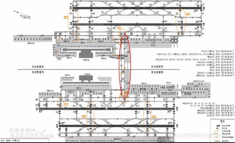 浦东机场一组垂直联络道