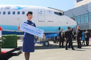 据波音官方微博5月23日消息,厦门航空已接收其首架737 MAX飞机。