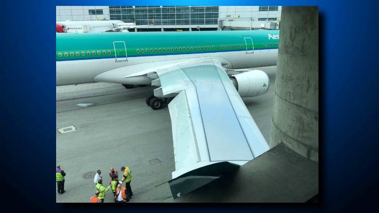 爱尔兰航空客机在旧金山机场发生剐蹭