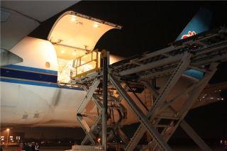 哈尔滨机场开通首条北美货运包机航线