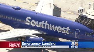 飞机上吸烟引火灾恐慌 西南航空客机紧急降落