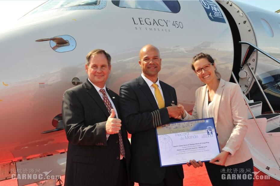 莱格赛450在美欧间创下跨大西洋飞行速度纪录