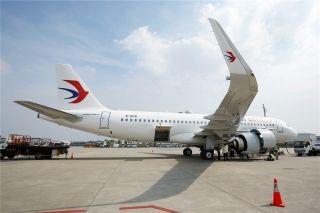 组图:东航首架A320neo即将起航