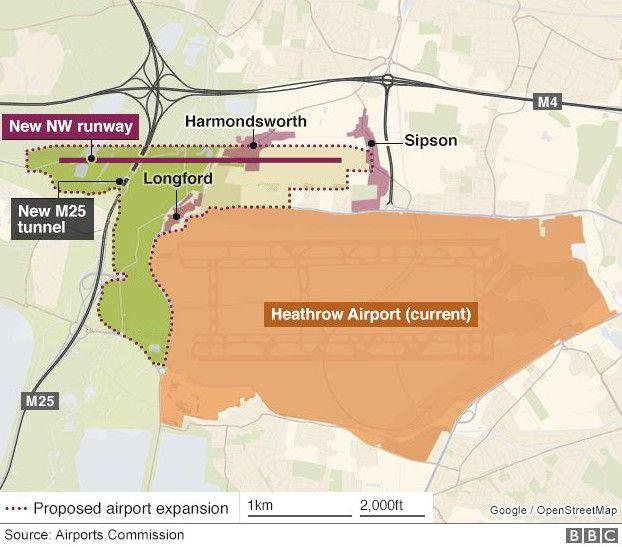 英国希思罗机场第三跑道计划获内阁批准