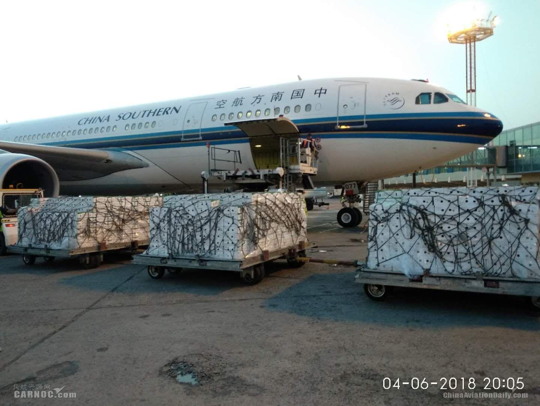 """""""首批""""乌兹别克斯坦樱桃搭乘南航航班飞抵北京"""