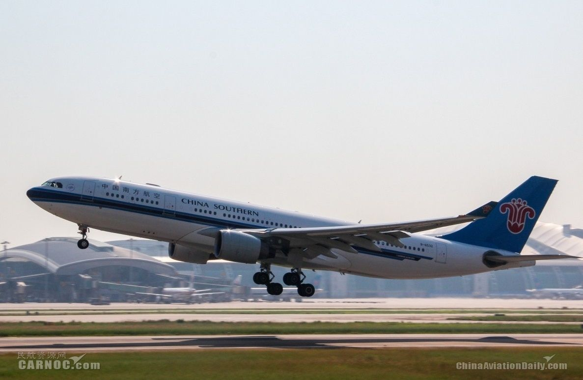 资料图片:南航a330-200飞机腾空而起图片