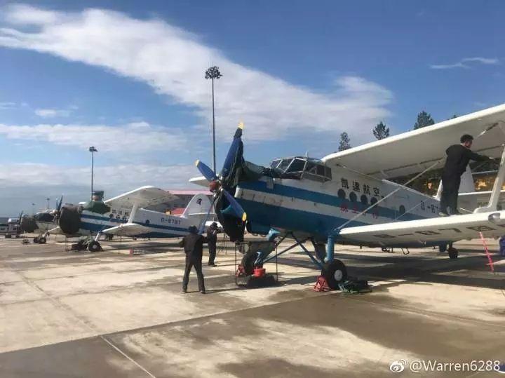 凯达通航2架运5飞机全力扑救内蒙古森林火灾