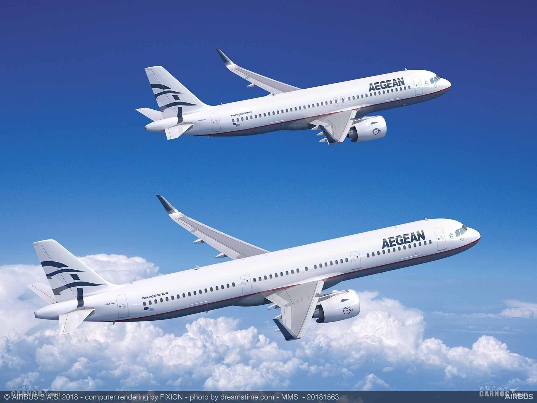 爱琴海航空订购30架空客A320neo系列飞机