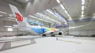 国航第三架北京世园会主题彩绘飞机终于揭开神秘面纱