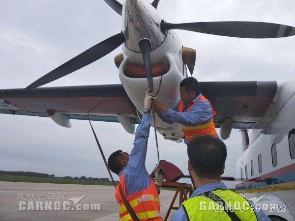中航工业哈飞机务检查飞机 摄影:董王南