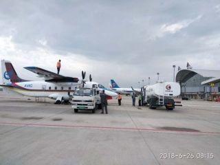 大庆机场运行指挥中心全程陪同运12F科研试飞