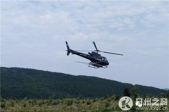 """直升机洒药 为开州165万亩松树披上""""保护伞"""""""