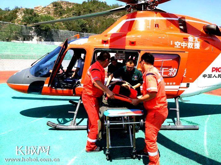 紧急起飞!张家口直升机救援为生命接力