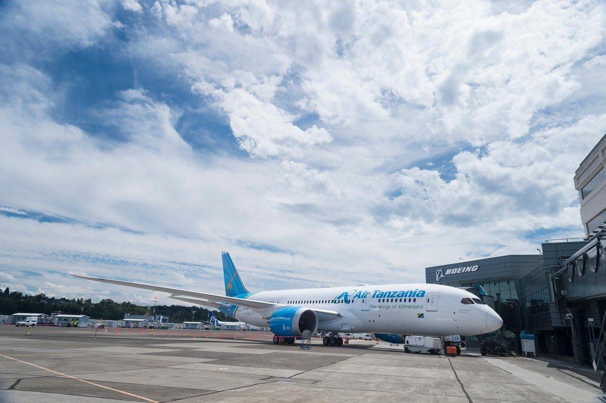 坦桑尼亚航空接收首架波音787客机