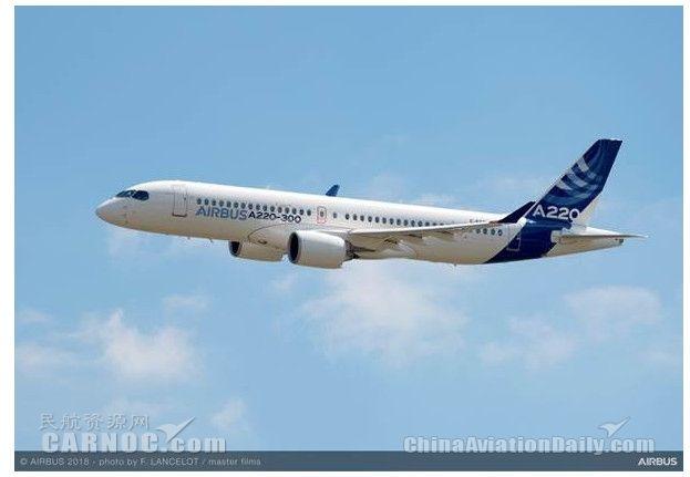 民航早报:空客A220飞机总订单达402架