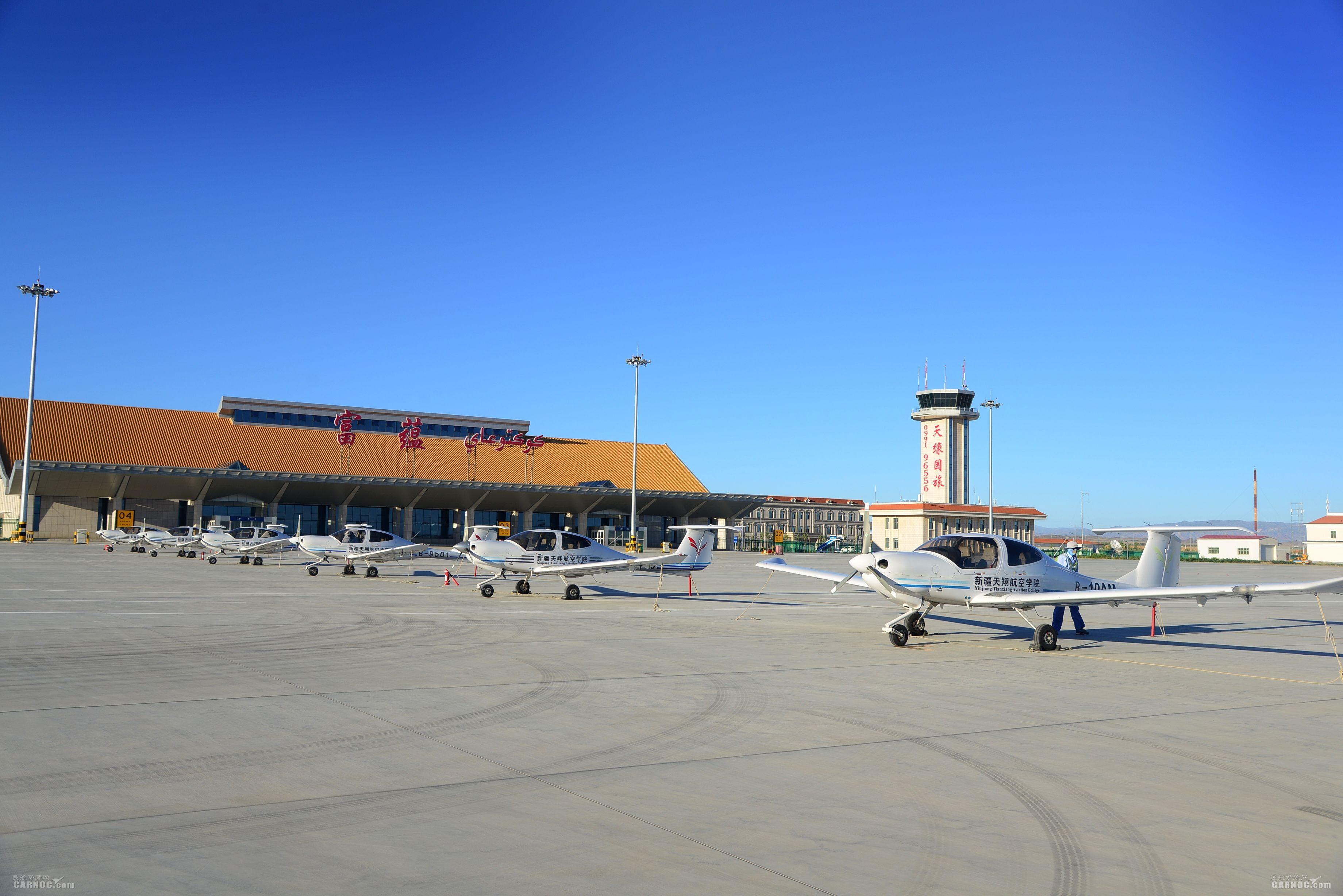 富蕴机场保障天翔航院安全飞行5130架次