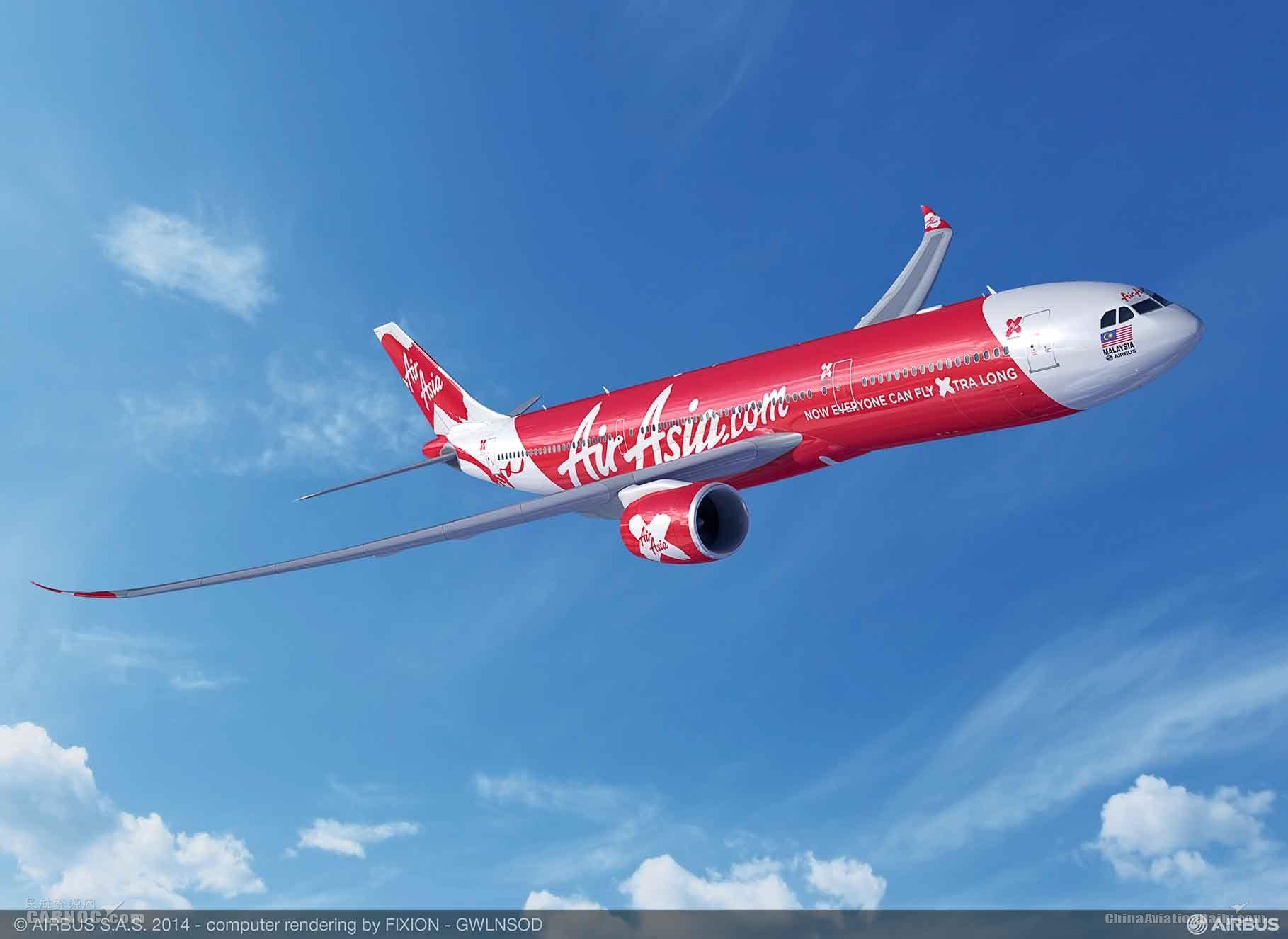 亚洲航空X增购34架空客A330neo飞机