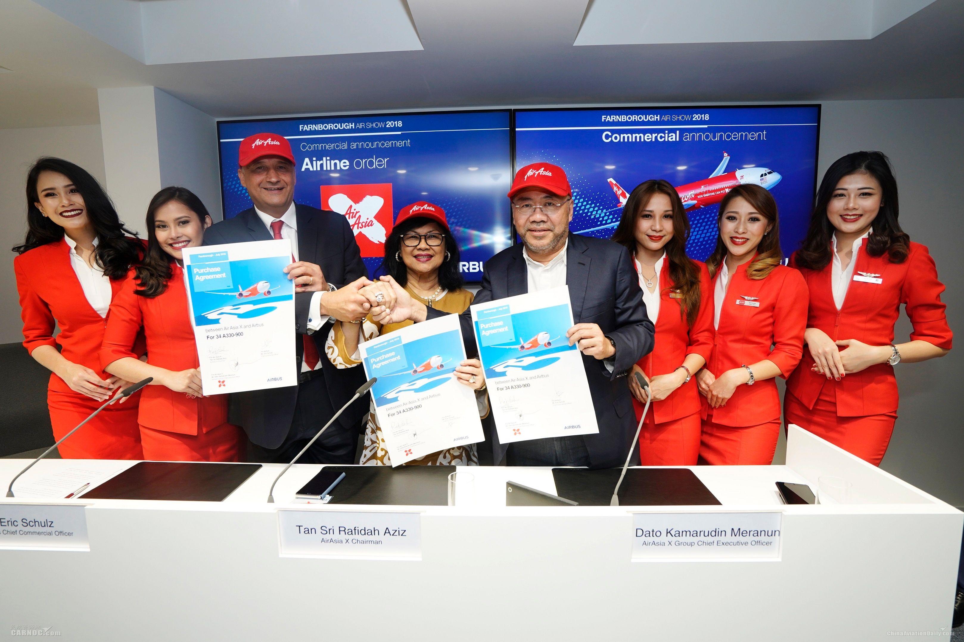 亚航确认原66架空客A330neo订单 再增购34架