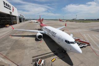 深航首架波音737 MAX 8到场