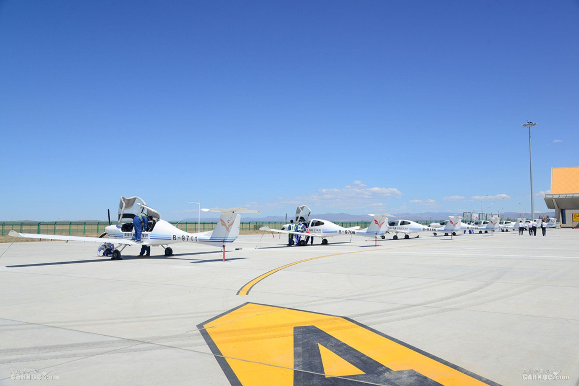 富蕴机场7月保障天翔航院飞行架次再创新高