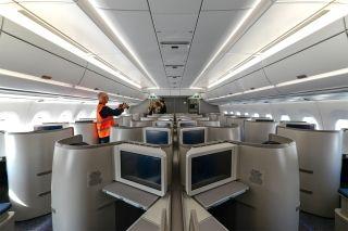 国航接收首架A350   客舱抢鲜看