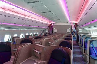 国航A350上采用的Super Diamond反鱼骨商务舱  图片来源:FATIII