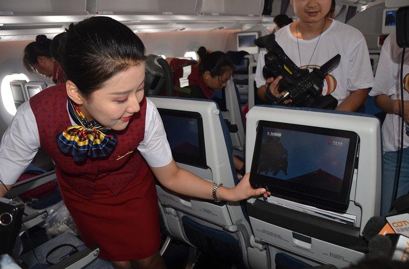 乘务员介绍经济舱座位液晶显示屏_副本
