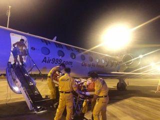 南山公务机保障G550救援飞机首次急救飞行任务