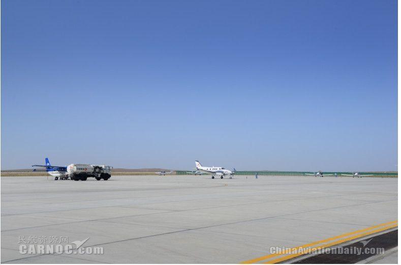 富蕴机场历史首次保障10架通航飞机驻场飞行