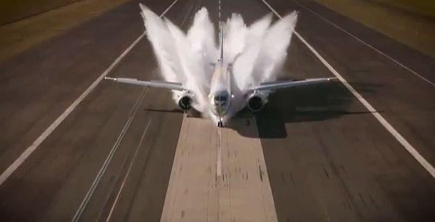 巴航工业E195E2飞机成功完成溅水测试