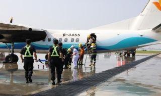 幸福航空参加银川机场国防应急综合演练
