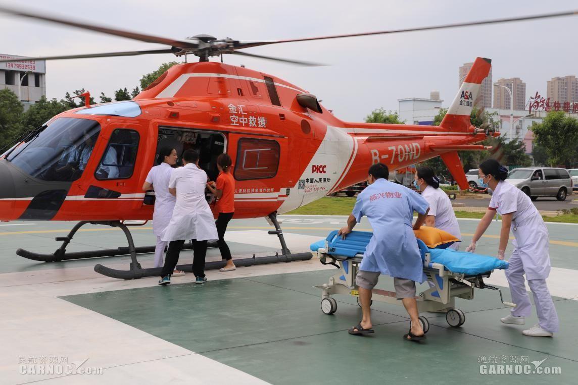 警保联动 直升机首次参与城市道路车祸事故救援