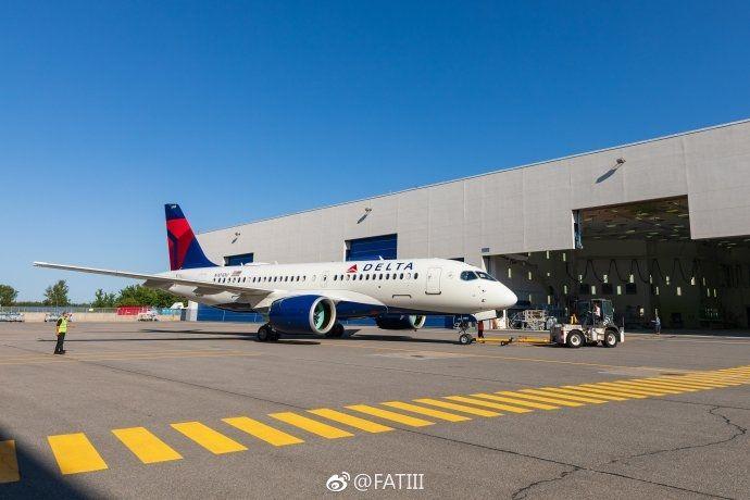 达美航空首架A220-100完整涂装亮相