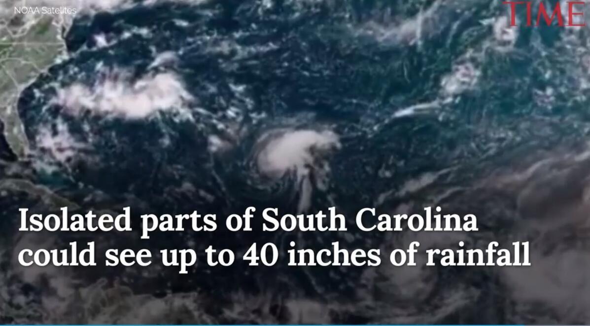 """美国飓风""""佛罗伦萨""""肆虐南卡"""