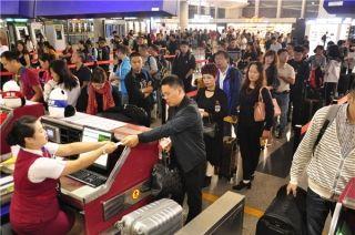 成都机场中秋预计运送出港旅客21万多人次