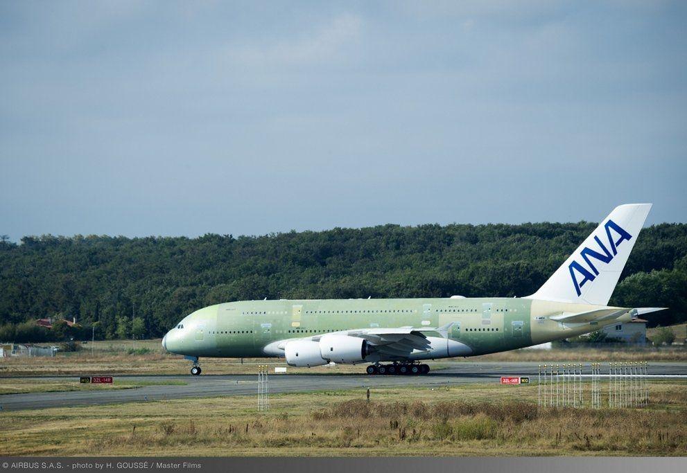 全日空航空首架A380完成首飞
