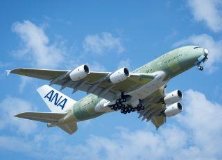 全日空航空公司首架空客A380飞机完成首飞