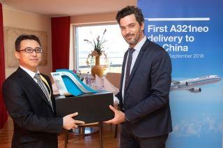 空中客车向国航交付其首架A321neo飞机