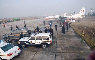 2006年11月28日,合肥机场反劫机应急救援综合演练