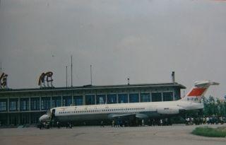 麦道-80在合肥机场