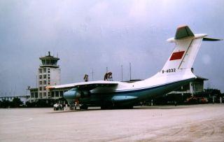 伊尔-76飞机在合肥机场