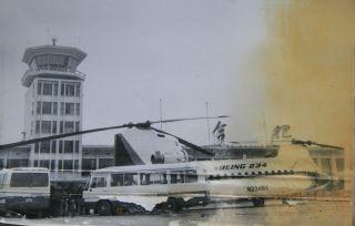 """美制CH46""""支奴干""""运输直升机 在合肥机场"""