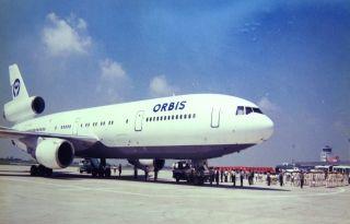 """奥比斯国际眼科飞行医院""""麦道-11飞机""""在合肥机场巡诊"""