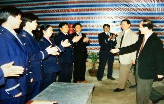 1996年4月2日  陈光毅局长视察扩建设中的合肥骆岗机场