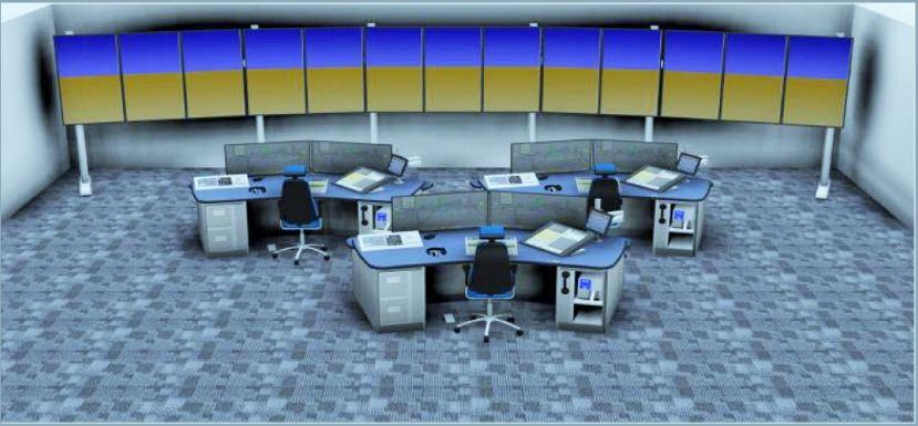 远程塔台控制中心示意图