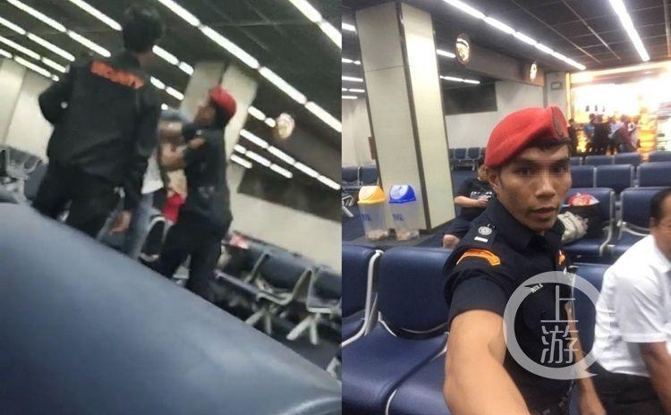 中国游客在泰国机场被保安殴打 只因拒付小费?